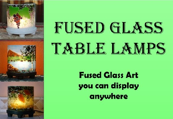 Fused Glass Table Lamps