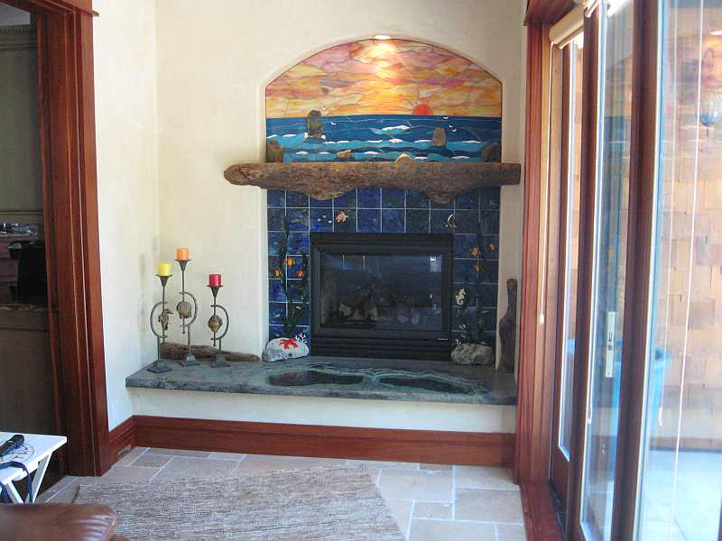 Glass Fireplace Collaboration with Mark Clyburn